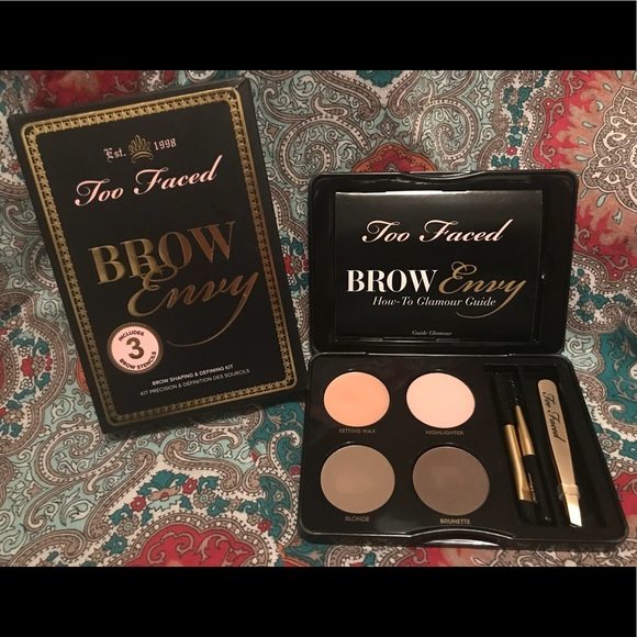 Too Faced Makeup Brow Envy Brow Kit Wstencils Poshmark